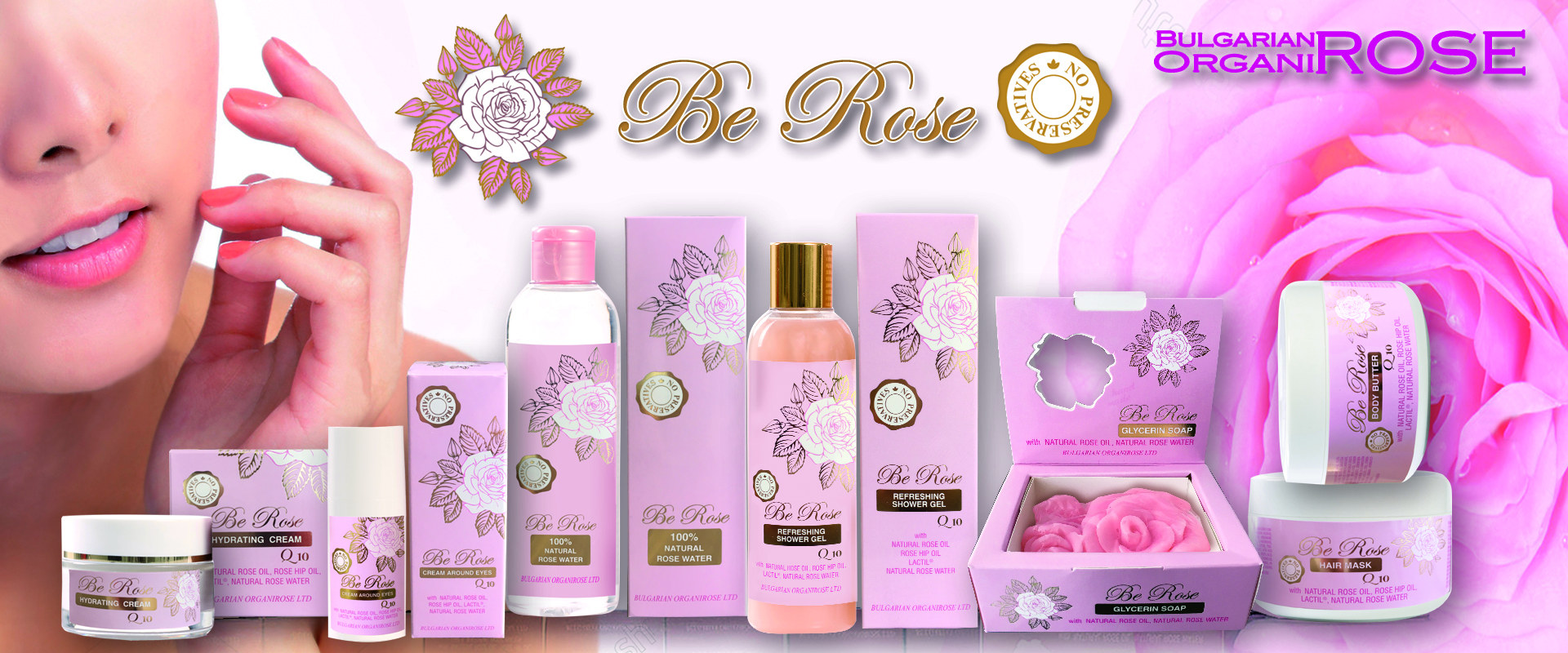 Be Rose Cosmetic Line